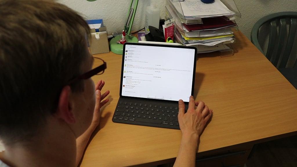 Mobiler Chat bei Pflegebetriebe Kuhrcke